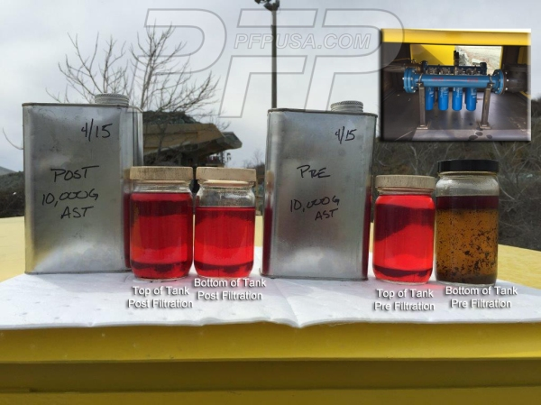Pre and Post Filtration Samples of Diesel Fuel